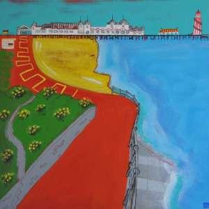 Southsea Beach painting