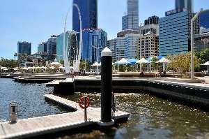 Perth City and Swan River  Elizabeth Quay