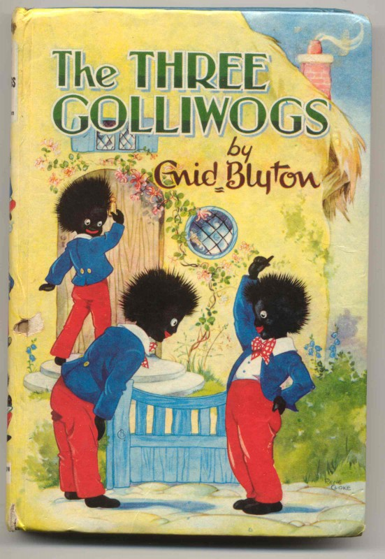 The Three Golliwogs - banned in the 1960s. In the 70s, the book was reintroduced with the golliwogs renamed as Wiggie, Waggie and Wollie.