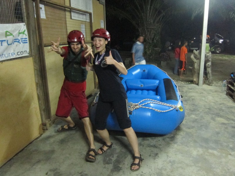 Night rafting with Ash