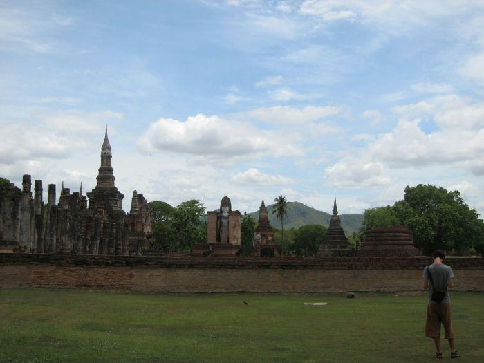 Wat Mahathat in Sukhothai, build around the 13th century