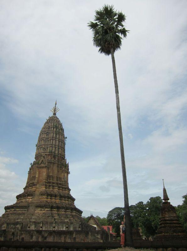 Wat Phra Si Ratana Mahathat in Si Satchanalai. Built around the 12th century