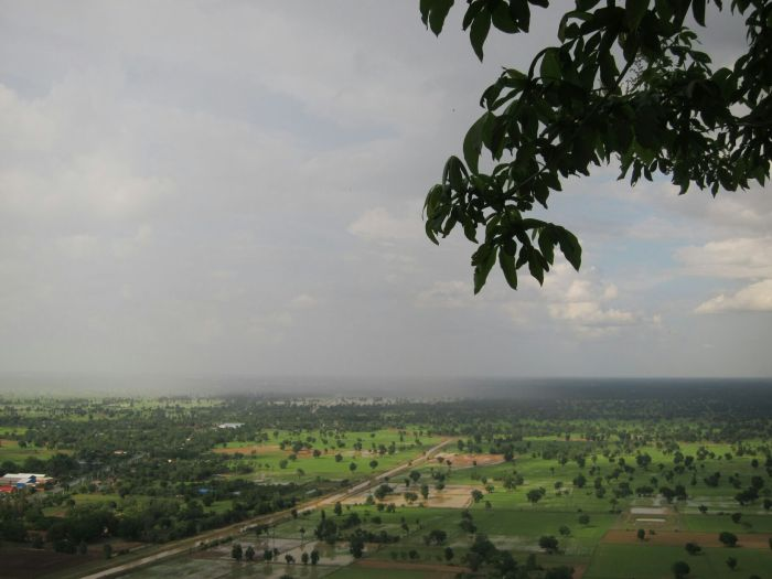 The veiw of the Battambang province, with the rain creeping in