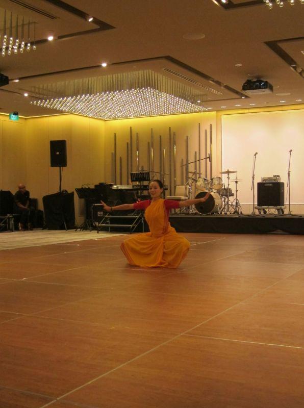 Caroline performed a Bharatanatyam dance