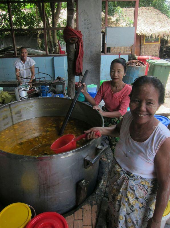 An enormous pot of pumpkin curry