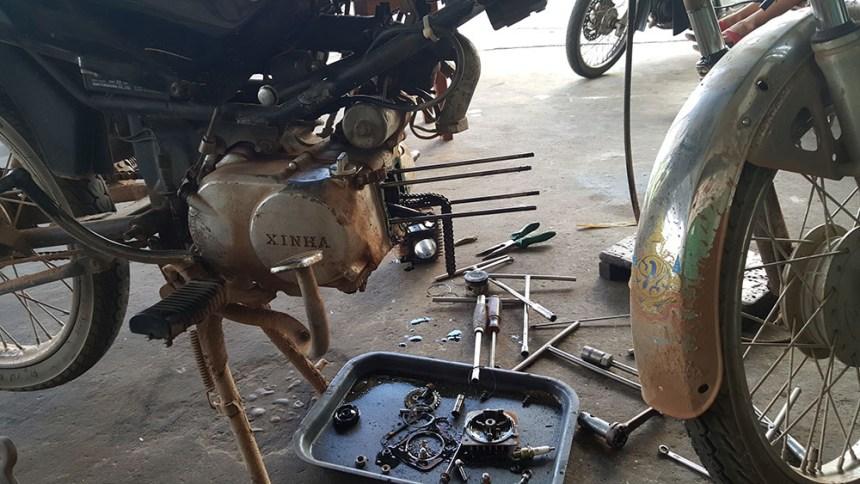 thakhek loop, laos, motorcycle, honda win