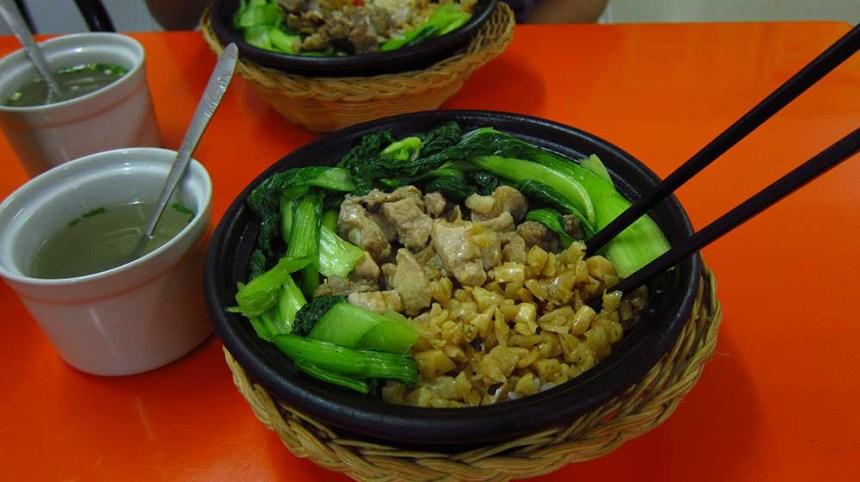 Success! Claypot pork rib rice.