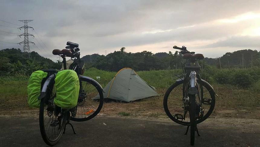 Camping at the farmhouse