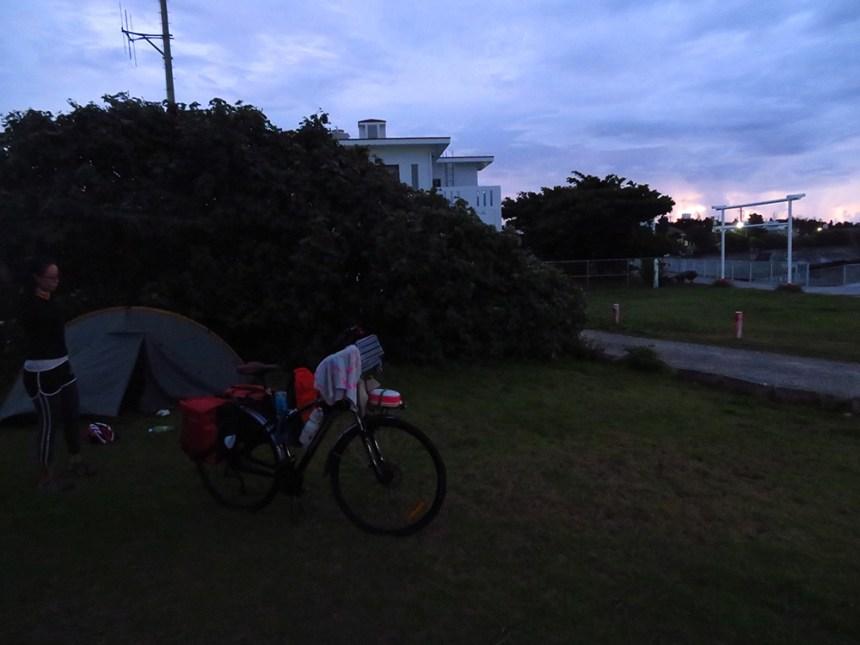 camping, ikei island, okinawa