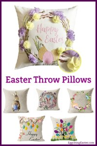Easter Throw Pillows in Easter Home Decor - Eggciting Easter