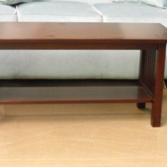 Amish Built Sofa Tables Fabric Bed Cheap Closeout Items Egger S Furniture 01 M Solid Maple Mission Style Coffee Table Cherry Finish By Elm Crest