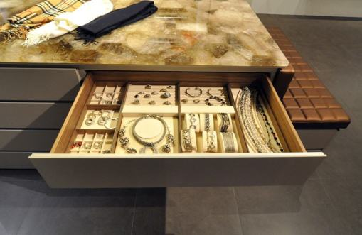 luxury jewelry drawer in a wardrobe by schmalenbach