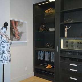 eggersmann media cabinetry display at eggersmann's studio Toronto