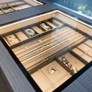 jewelry storage in schmalenbach custom-designed luxury closet