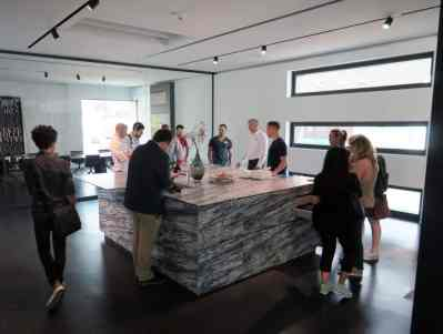 viewing new cabinetry displays during the 2017 eggersmann german kitchen cabinet factory