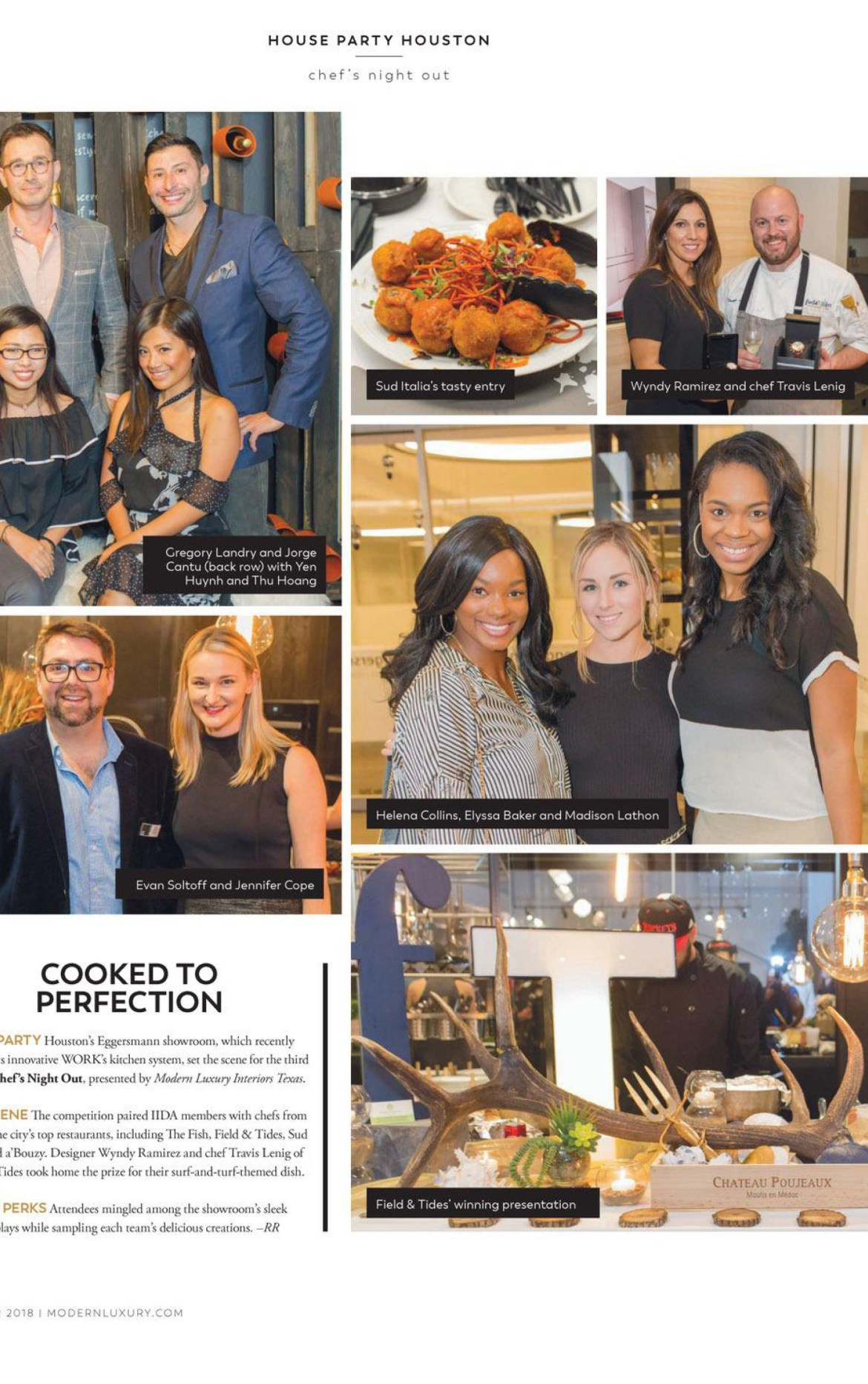 eggersmann's cabinet system called the works was featured during a chef's night out event sponsored by modern luxury interiors texas
