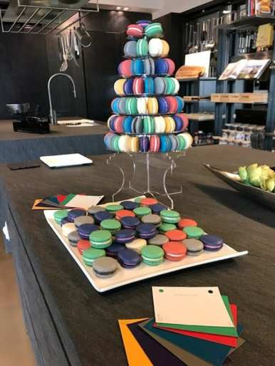 colorful treats served to guests at the color forecast event in 2019
