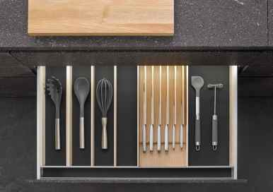 BoxTec - Light Ash utensil storage and magnetic knife block storage