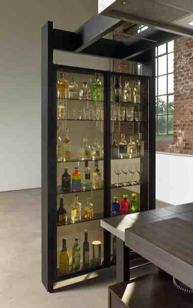 Works Bar Display case anodized aluminum black