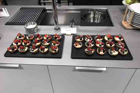 Chef Peter prepared mascarpone berry mini-tarts for the participants at the February 28th eggersmann LA event sponsored by Cosentino