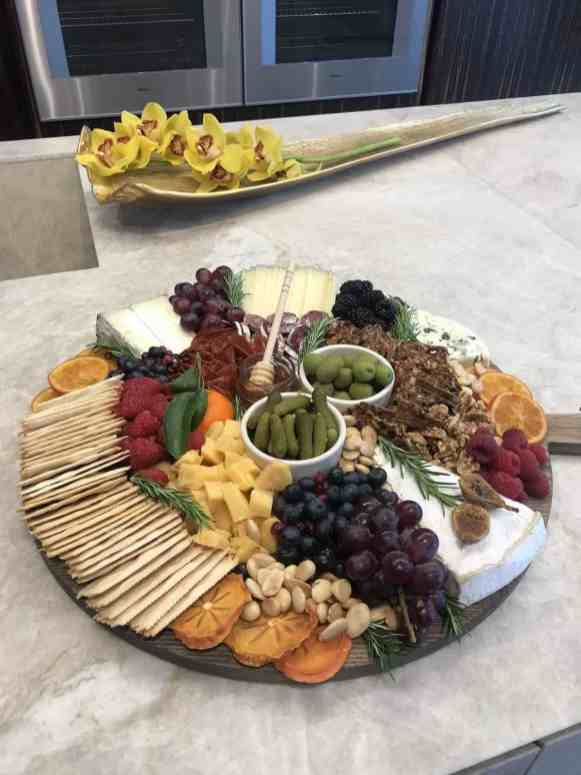 Cheese and relish tray designed by LA food stylist, Meg Quinn