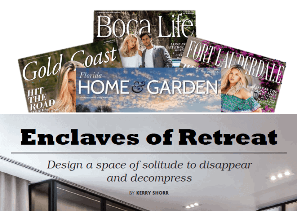 "gulfstream media publications publish article entitled ""enclaves of retreat"" that features eggersmann luxury closet"