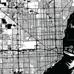 black and white map of fort lauderdale area indicating location of an eggersmann showroom