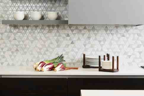 stunning mosaic backsplash of the moussa kitchen project completed by eggersmann la