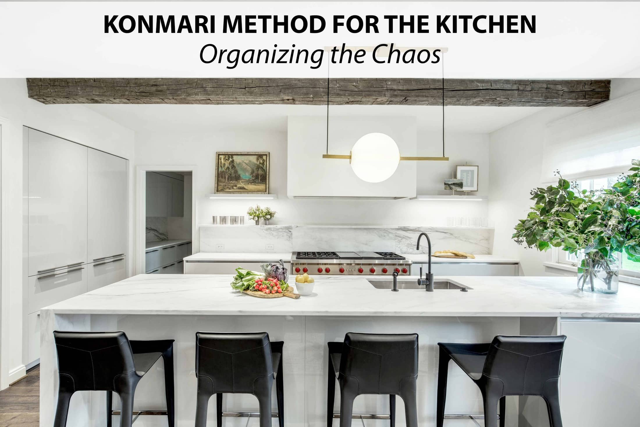 konmari kitchen organizing method