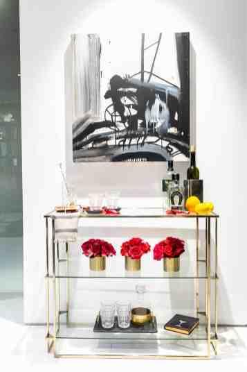 featured victoria hardy interior design vignette in the eggersmann kitchens chicago showroom during the rndd gallery walk 2019