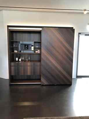 eggersmann factory tour chevron smoked oak wall cabinet open
