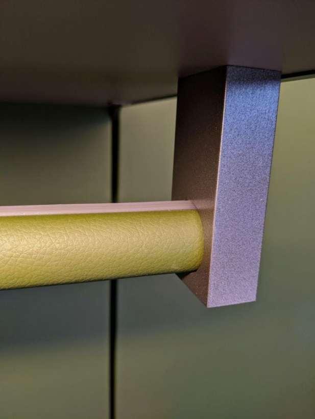 eggersmann factory tour detailed closeup view of quality hanging hardware