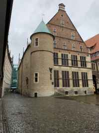 simple but interesting architecture of muenster germany