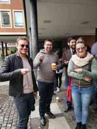 eggersmann team tasting jagermeister in muenster germany