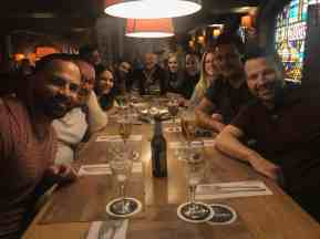 eggersmann team photo at a dinner in muenster germany