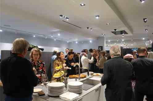 attendees enjoying the delicious meal prepared by chef petr at the making function fabulous event at eggersmann la
