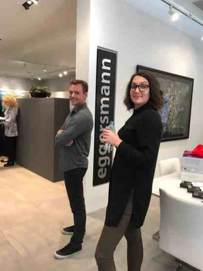 2 attendees of a january 2020 estate master class in the eggersmann showroom