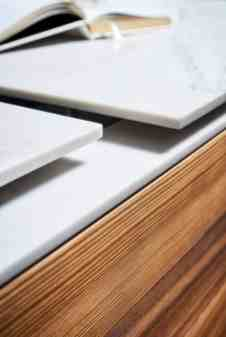 up close vies of the craftsmanship in the stone work that goes into our MOTION sliding countertops