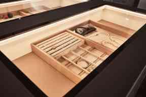luxury jewelry organizer inside schmalenbach closet system