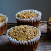 Hazelnut, Pear & Oat Muffins