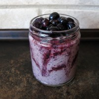 Blueberry Swirl Buckwheat, Amaranth + Walnut Porridge