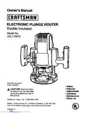 Manual For Craftsman Router 315 245990