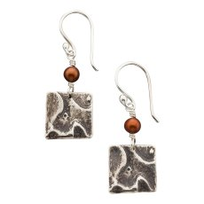 PP-E-01, Ponderosa Pine Earring. SS, Freshwater pearl. Wholesale $24. $300 total minimum on first wholesale order.