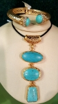 Genuine Turquoise with 18k gold plating