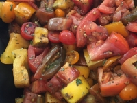Heirloom Tomato Salad, A Great Salad Option For Your Wedding, Plated or Buffet Style Wedding!