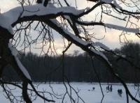 Winter Golfing on Lake Wallenpaupack, Hawley, Pa