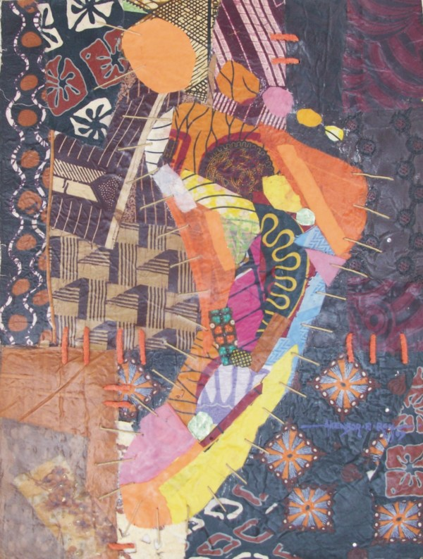 African Print Fabric Collage