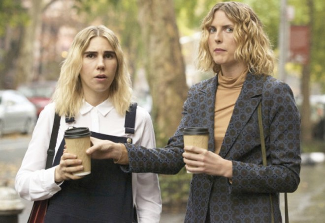 Diana Irvine and Zosia Mamet from The Boy Downstairs