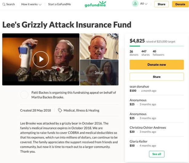 Lee's Grizzly Attack Insurance Fund