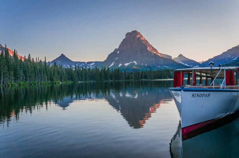 Two Medicine Lake Sunset